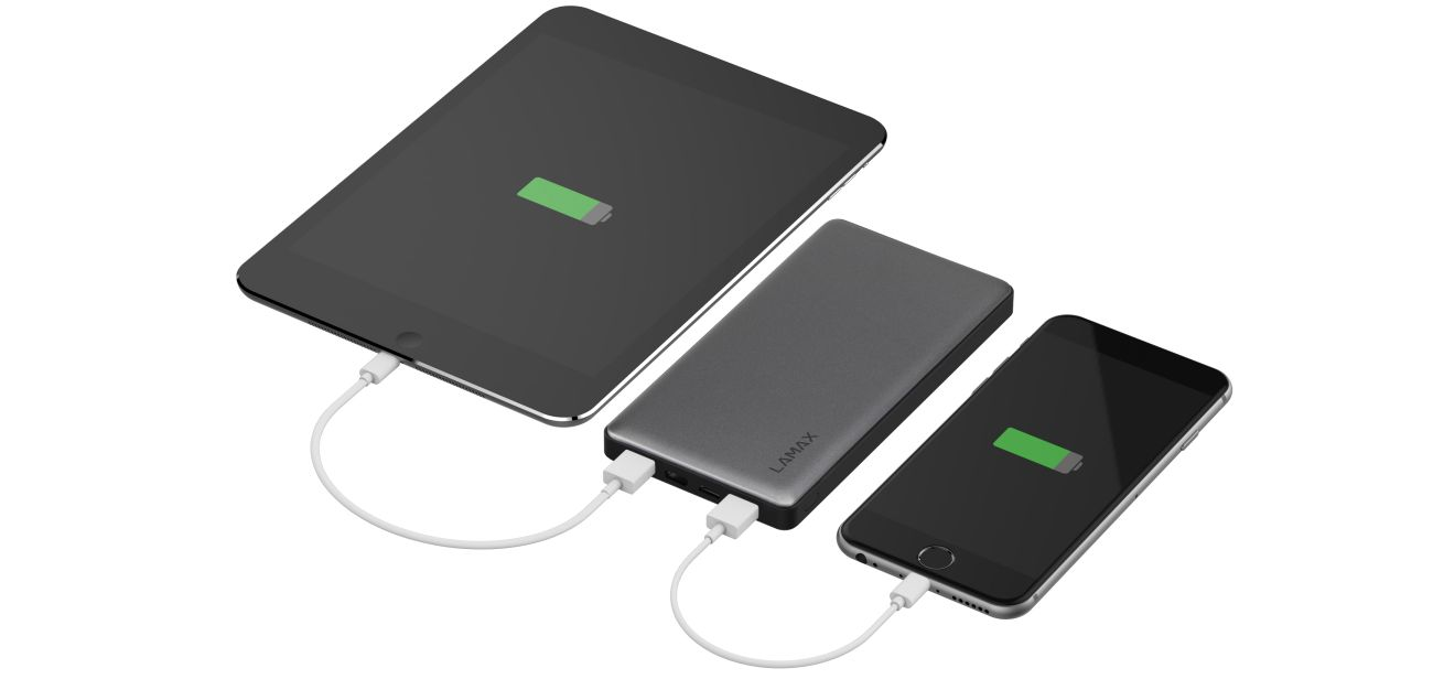 PowerBank LAmax 10000 mAh, black