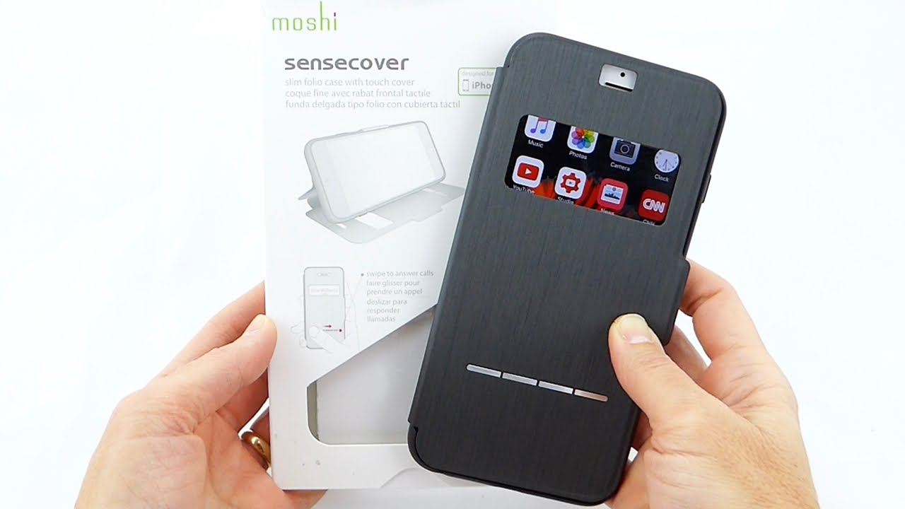 Moshi SenseCover púzdro flip Apple iPhone 6 steel black - Flipová ... 3b790014f40