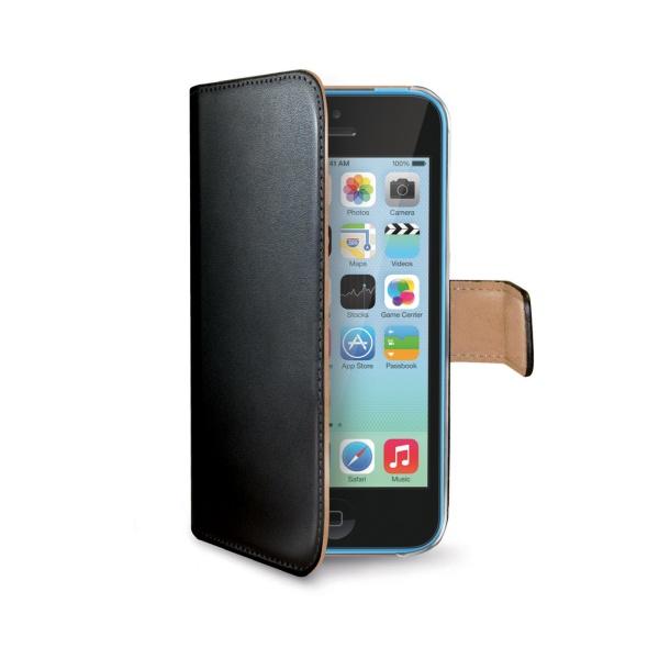 Kožené pouzdro typu kniha CELLY Wally pro Apple iPhone 5C 56b646455b2