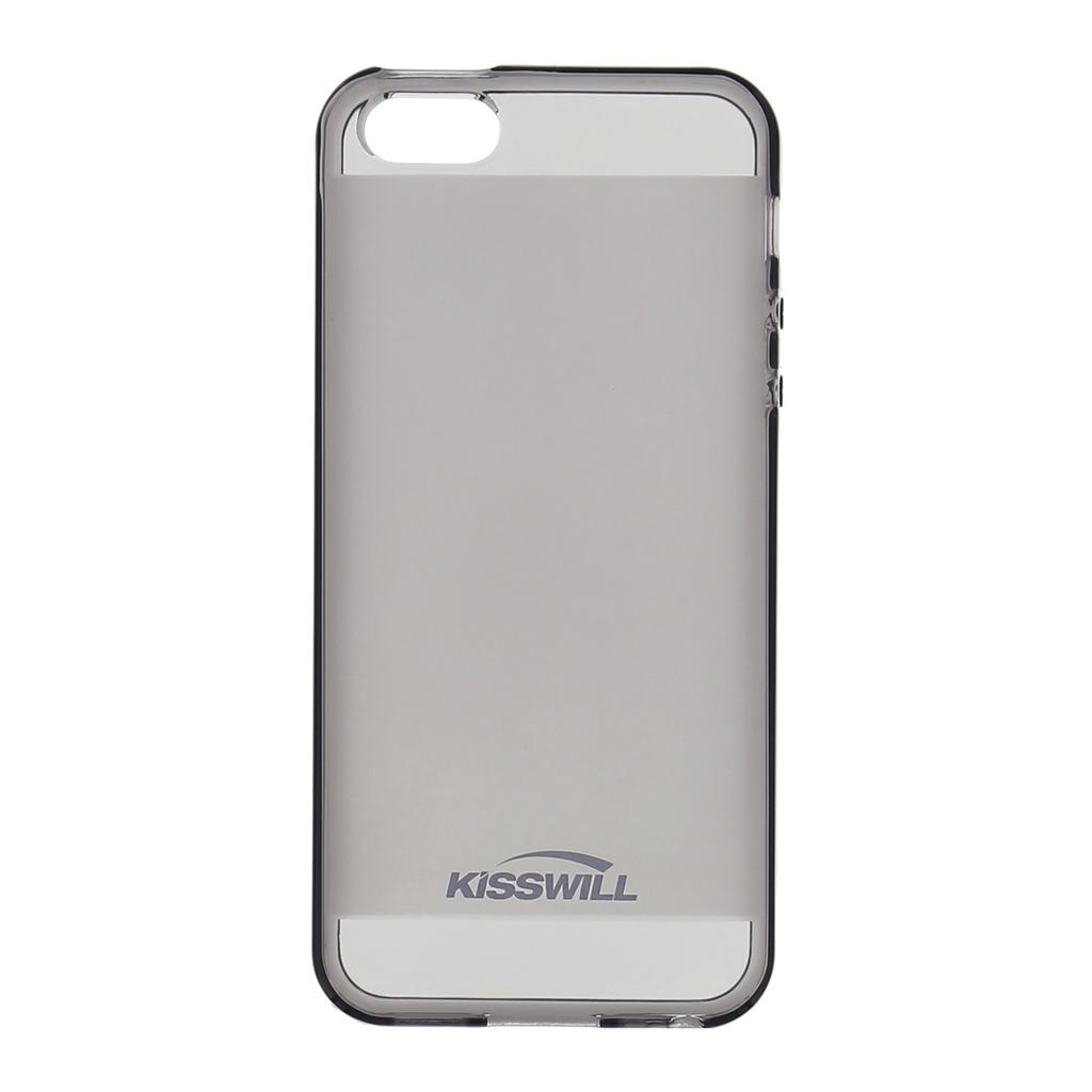 Kisswill silikónové puzdro Apple iPhone 5   5S čierne - TPU ... 4756312fefa