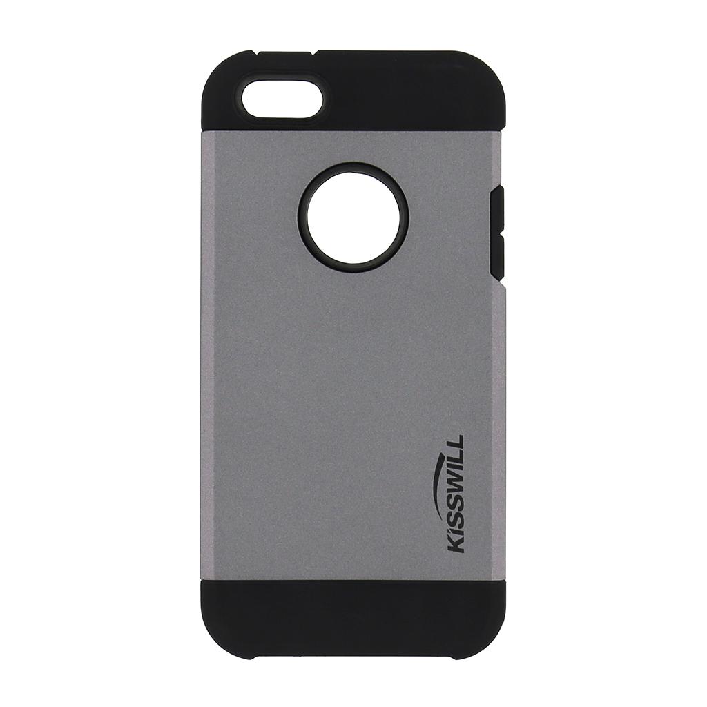 Púzdro Kisswill Slim Armor pre iPhone 5   5S sivé - TPU 234360b794f