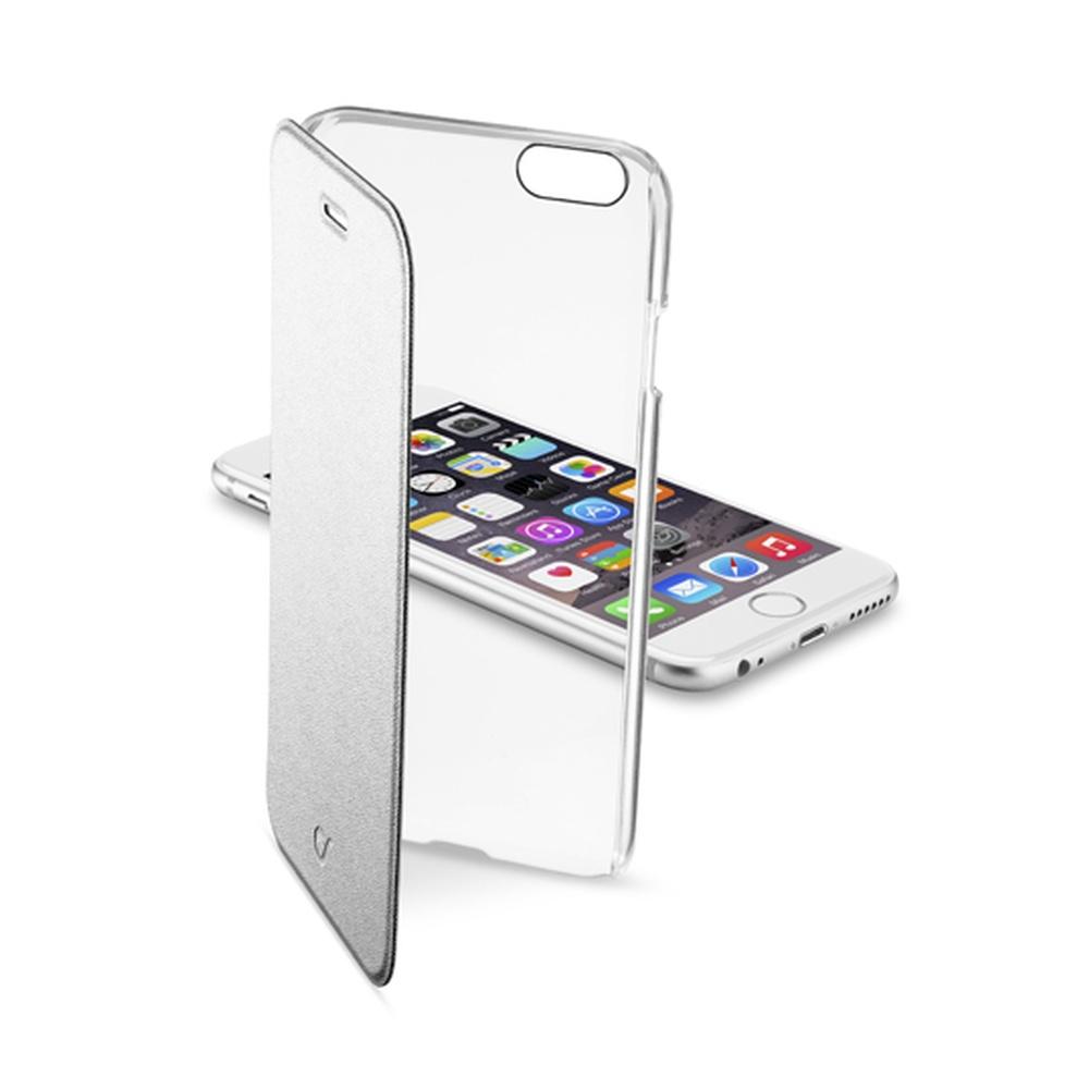 Púzdro flip Apple iPhone 6 CellularLine Clear Book strieborné ... c32eadf15f7