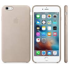 Zadní kryt na Apple iPhone 6s Plus Leather Case šedý - Zadné ochrané ... 892e5ca72ef