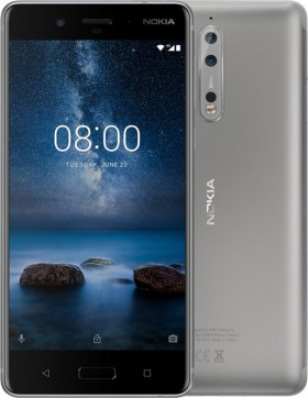 Mobilní telefon Nokia 8 Dual SIM Silver Steel