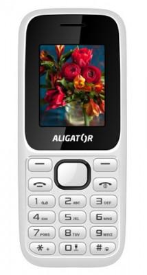 Mobilní telefon Aligator D200 Dual SIM White / Black