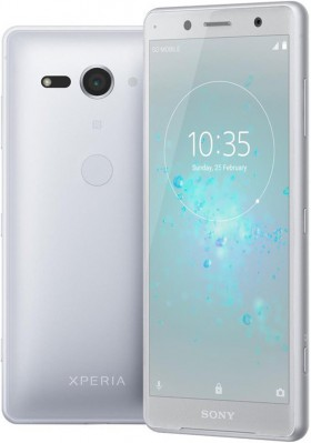 Mobilní telefon Sony Xperia XZ2 Compact H8324 Dual Sim White Silver