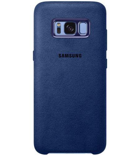 Zadný originálny kožený kryt Alcantara pre Samsung Galaxy S8 + (G955) modrá 3eb747f9f8c