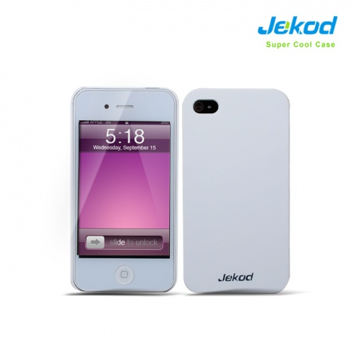 Puzdro na mobil JEKOD Super Cool iPhone 4   4S biele - Zadné ochrané ... 9b45fa871eb